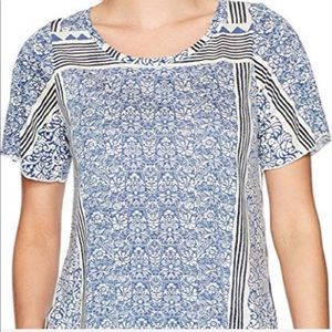 Lucky Brand Patterned Short Sleeve Top